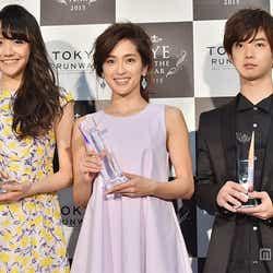 (左より)松井愛莉、中村アン、千葉雄大