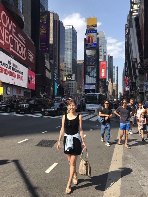 アメリカに住む幼馴染に逢いに、ニューヨークへ。大大大都会!ハリウッド映画に出てくるところ。感激/小澤陽子アナウンサー(提供写真)