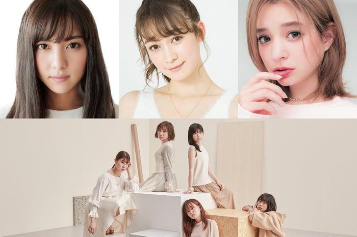 (左上から時計回りに)石川恋、藤井サチ、瑛茉ジャスミン、Little Glee Monster(提供写真)