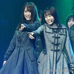 菅井友香、松田里奈「欅坂46 3rd YEAR ANNIVERSARY LIVE」(C)モデルプレス
