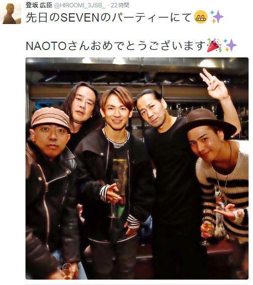 三代目 J Soul Brothersの登坂広臣が、同じく三代目 J Soul BrothersのメンバーであるNAOTOがディレクションするアパレルブランド「SEVEN」のローンチパーティーに駆けつ...