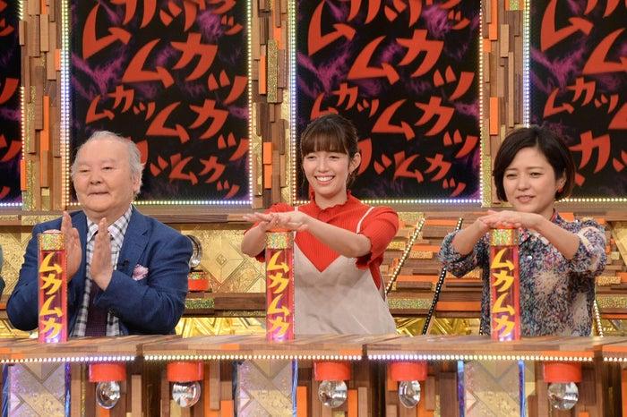 (左から)加藤一二三・佐藤栞・三田寛子 (C)フジテレビ