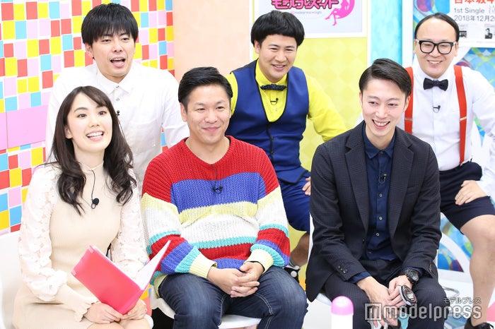「モデルプレスナイト」の模様(前列左から)妹田佳奈子、川島章良、金田哲(後列左から) 西村真二、きょん、たかし(C)モデルプレス