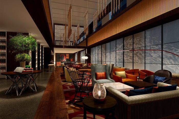 ホテルゲストが集うライブラリー(完成イメージ)/画像提供:ハイアット ホテルズ アンド リゾーツ