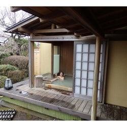 妊娠中の神戸蘭子「最後になっちゃう」夫と温泉旅行で入浴ショット公開