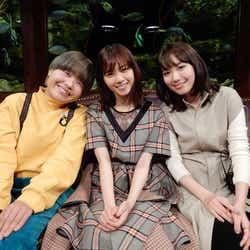 (左から)まひる、西野七瀬、飯豊まりえ (写真提供:カンテレ)