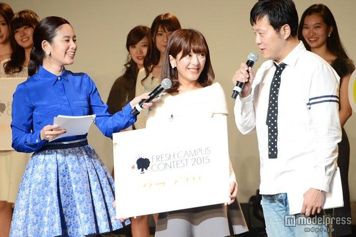 左より:筧美和子、春田奈々さん、エハラマサヒロ