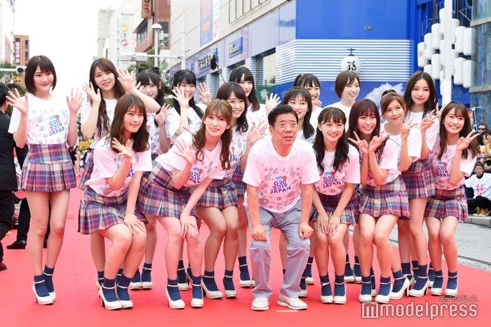 NMB48&西川きよし(C)モデルプレス