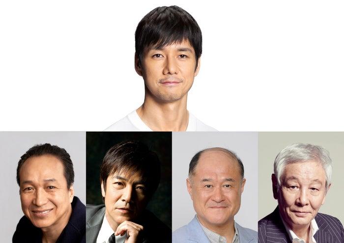 (上から時計回りに)西島秀俊、近藤正臣、角野卓造、野口五郎、小日向文世(画像提供:TBS)