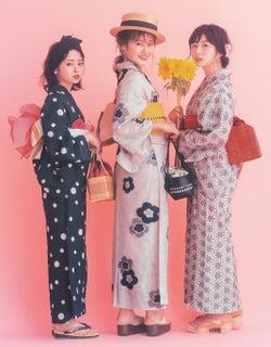 欅坂46今泉佑唯・長濱ねる・守屋茜、キュートな浴衣姿披露 理想のデート語る