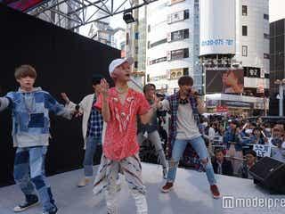 XOX、初のサプライズライブ!渋谷に黄色い歓声響き渡る