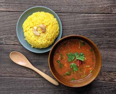 """いつものスープが""""酢""""パイシーに!南インドのお味噌汁?ラッサム風スープとターメリックライス"""