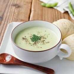 「白ねぎと枝豆の冷製スープ」レシピ【365日のパンとスープ】