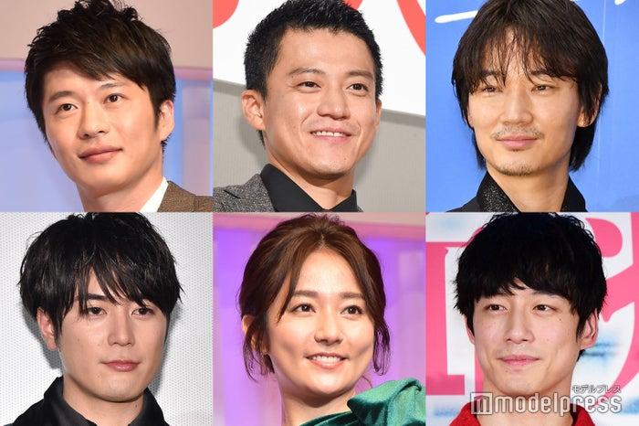 (左上から時計回りに)田中圭、小栗旬、綾野剛、坂口健太郎、木村文乃、間宮祥太朗(C)モデルプレス