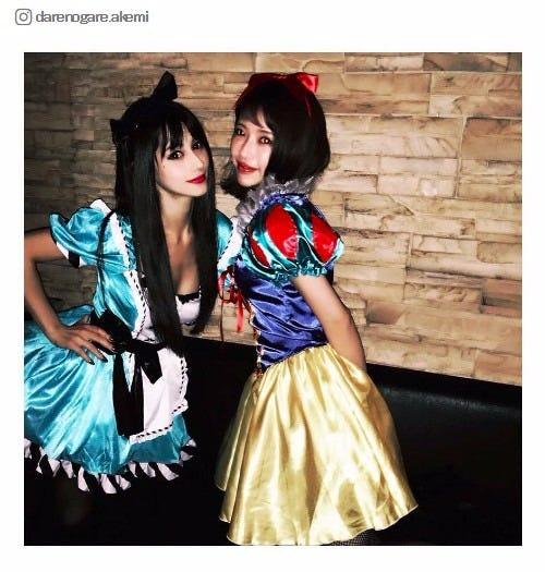 プリンセスになりきったダレノガレ明美、くみっきー/ダレノガレ明美Instagramより