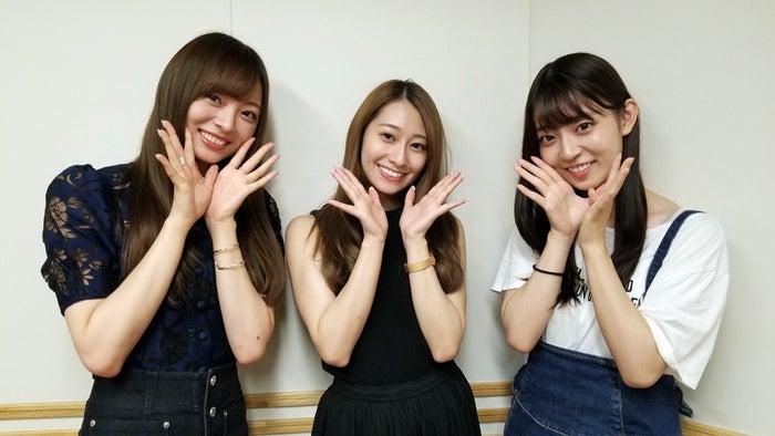 (左から)梅澤美波、桜井玲香、阪口珠美(提供写真)