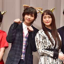(左から)柳ゆり菜、志尊淳、入山法子、竹財輝之助 (C)モデルプレス