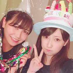 吉田朱里(右)&白間美瑠(提供写真)