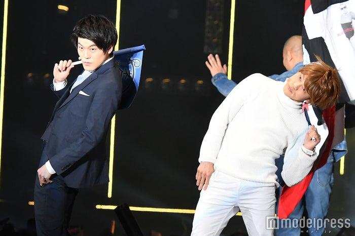TGCに出演したマロンマロン(左から)土佐兄弟・有輝、おばたのお兄さん (C)モデルプレス