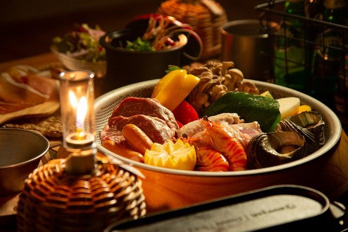 スノーピークグランピング徳島小松島/地元食材を使った料理(提供画像)