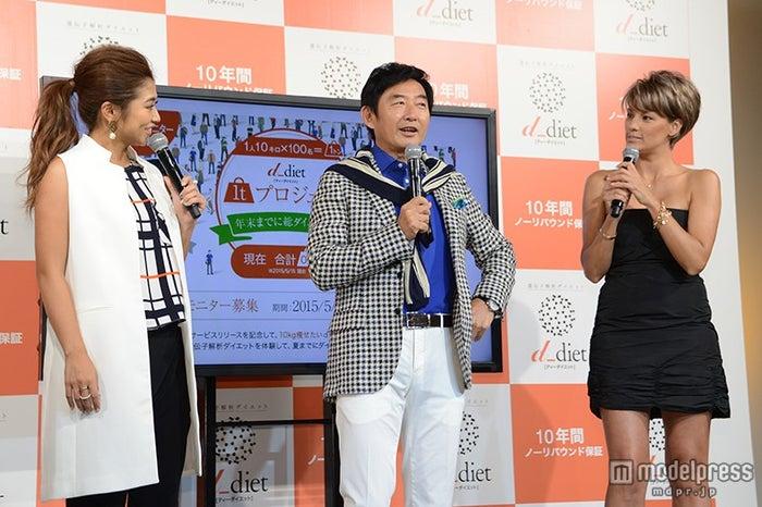(左から)今井華、石田純一、梅宮アンナ