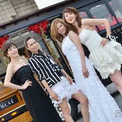 「オトナミューズ」創刊記念イベントに登場した(左から)梨花、佐田真由美、岩堀せり、SHIHO