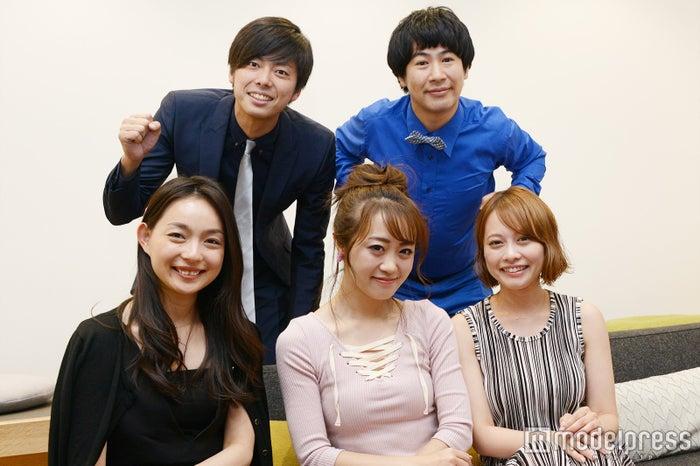 (前列左から)比留川良子、中島絢乃、神尾美沙(後列左から)西村真二、きょん(C)モデルプレス