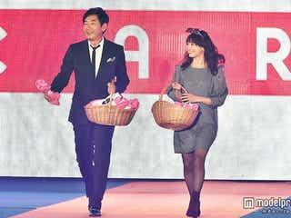 石田純一、スーツ姿で桃瀬美咲とランウェイ バブル時代のショッピング事情を明かす