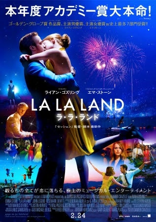ラ・ラ・ランド(C)EW0001: Sebastian (Ryan Gosling) and Mia (Emma Stone) in LA LALAND.Photo courtesy of Lionsgate.