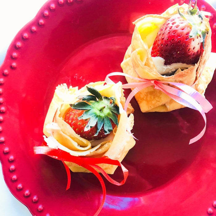 お餅をアレンジ!もっちり美味しい「クレープいちご大福」の作り方【柏原歩のトレンドレシピ】/画像提供:柏原歩