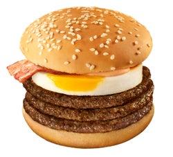 マクドナルド、ビーフパティ3倍増の月見バーガー「月光バーガー」が誕生