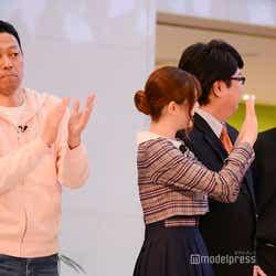 東野幸治、松村沙友理、古川洋平/吉本坂46「泣かせてくれよ」発売記念イベント(C)モデルプレス