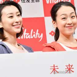 (左から)浅田舞、浅田真央(C)モデルプレス