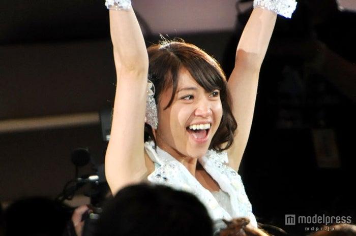 「AKB48 27thシングル 選抜総選挙 ~ファンが選ぶ64議席~」で1位に輝いた大島優子