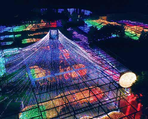 島根「由志園」で和風イルミネーション、和の温もり溢れる130万球の圧巻の輝き
