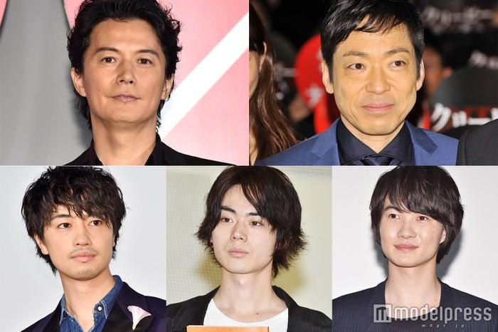左上から時計回り:福山雅治、香川照之、神木隆之介、菅田将暉、斎藤工 (C)モデルプレス