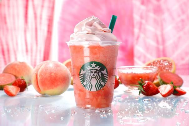 ピーチ ピンク フルーツ フラペチーノ/画像提供:スターバックス コーヒー ジャパン