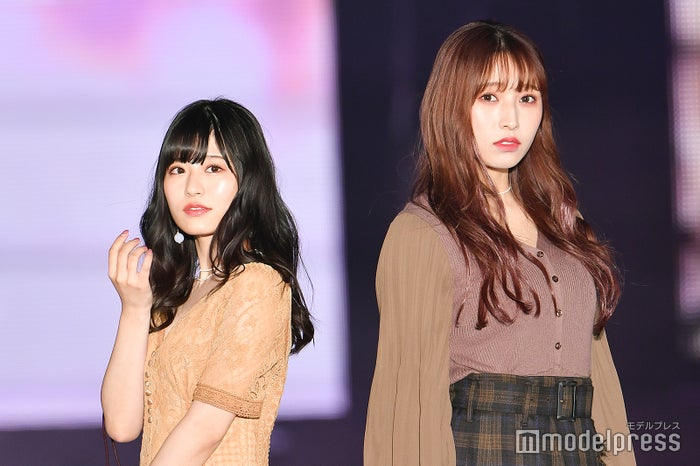 「GirlsAward 2019 A/W」に出演した月足天音、栗原紗英 (C)モデルプレス