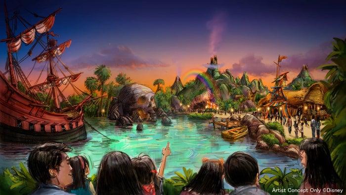 『ピーター・パン』をテーマとしたエリア (C)Disney