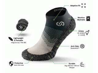 靴下みたいにフィットする多機能シューズ!くるっと丸めて持ち運びにかさ張らず、トレーニングに使えるほどの耐久性