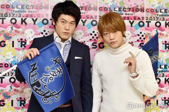 モデルプレスのインタビューに応じたマロンマロン(左から)土佐兄弟・有輝、おばたのお兄さん(C)モデルプレス