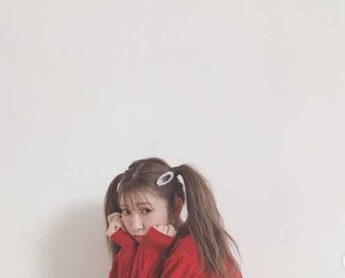 NMB48吉田朱里、ツインテール姿で美脚披露「憧れる」「脚長すぎ」と絶賛の声