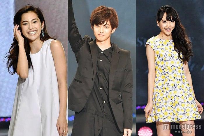 「アイ・オブ・ザ・イヤー2015」を受賞した(左から)中村アン、千葉雄大、松井愛莉【モデルプレス】