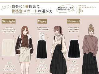 骨格タイプ別「一番似合うスカート」の選び方 着るだけで美人見え♡