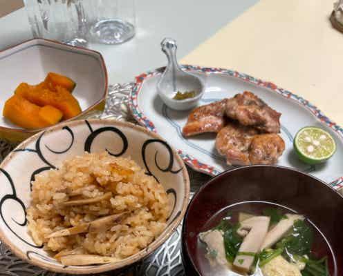 渡辺徹、妻・榊原郁恵が腕を振るった松茸料理を公開「至極のメニュー」
