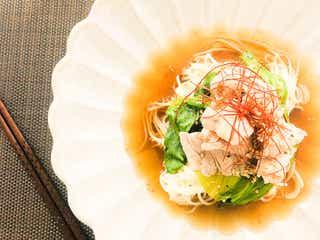 鶏ガラスープの素で簡単!美味しいヘルシー「豚しゃぶそうめん」【柏原歩のトレンドレシピ】