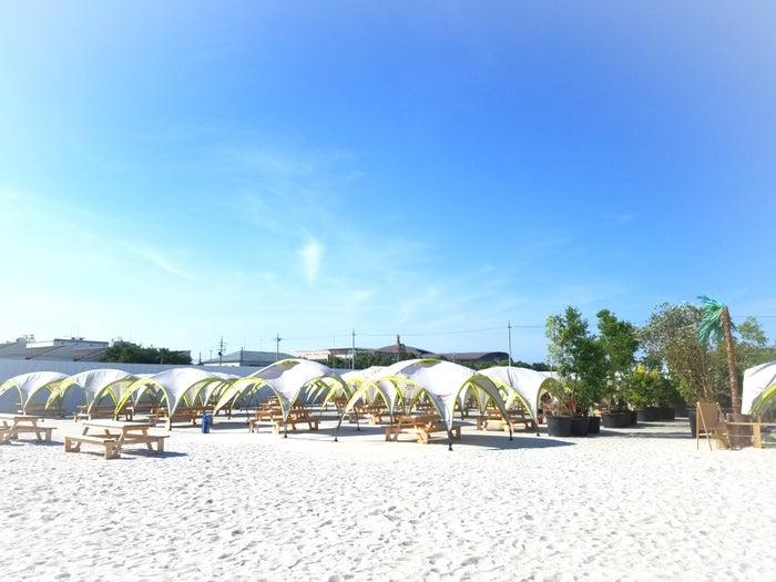 海のないビーチリゾート タチヒビーチ/画像提供:ソトイク