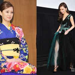 モデルプレス - 北川景子、艶やか着物姿&上品SEXYドレスで美脚チラリ<ファッションチェック>