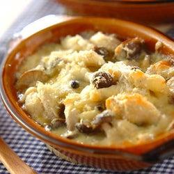 餅×チーズ×マヨ味がおいしい! 「お餅のキノコグラタン風」