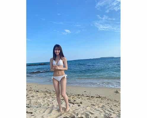 NGT48 西潟茉莉奈、写真集で話題の水着オフショットを公開「もはや日本の宝です」